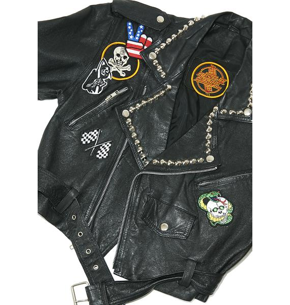 Hazmat Design Vintage Deadstock Highway Star Leather Jacket