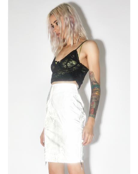 Reflective Chain Print Skirt