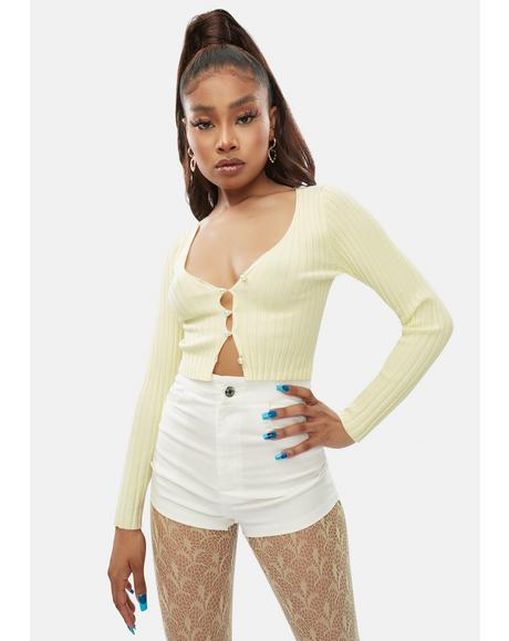 Lemon Piece Of Me Crop Top