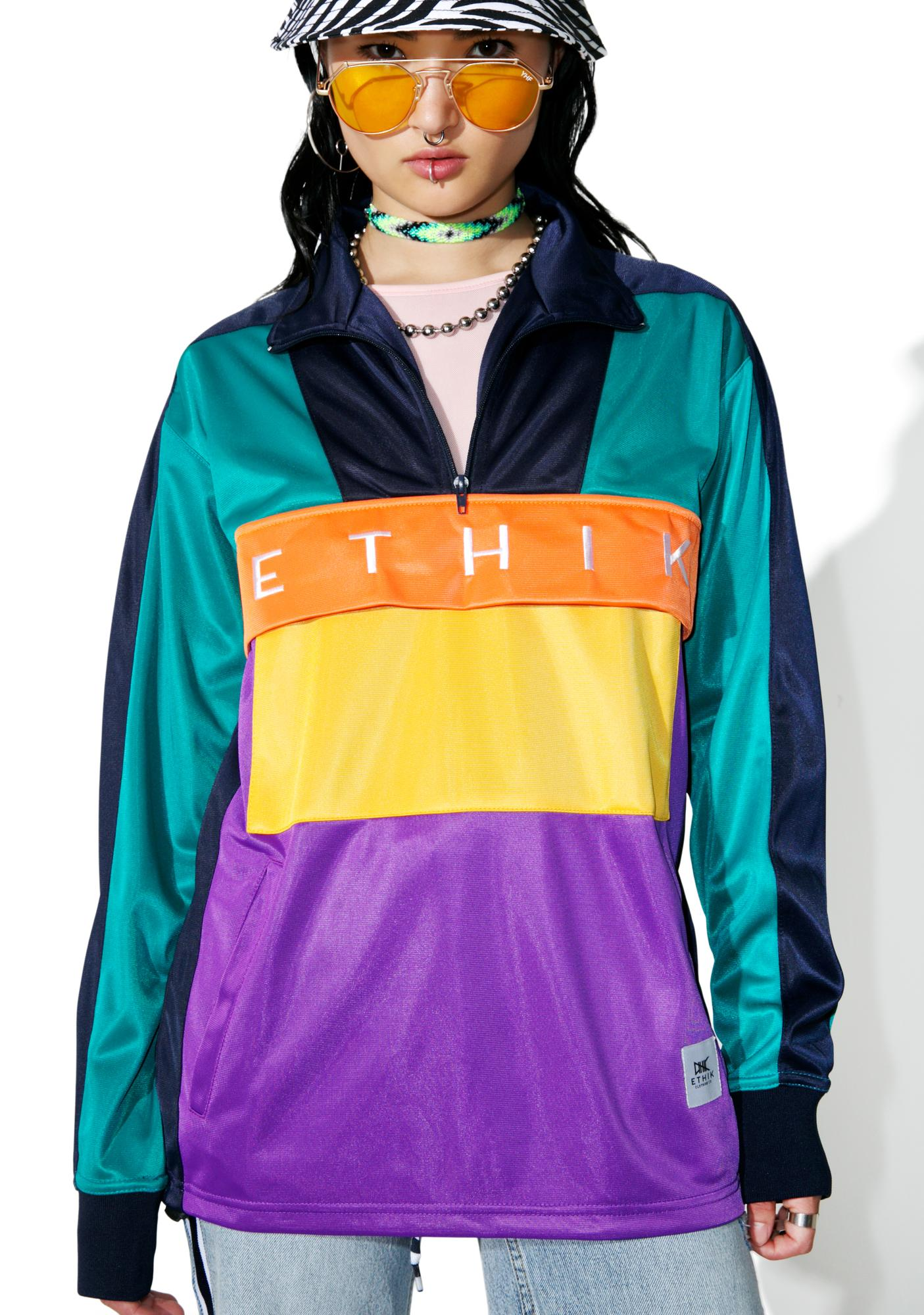 ETHIK Conference Champs Pullover Track Jacket | Dolls Kill
