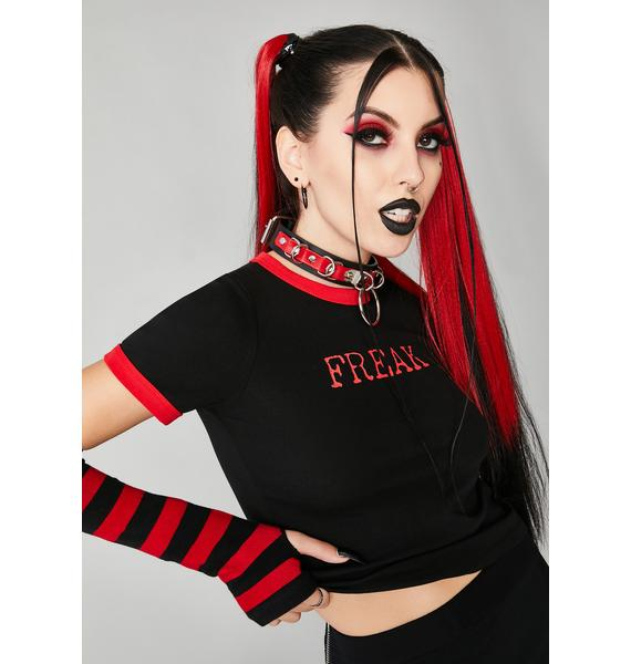 Widow Be Very Afraid Crop Tee