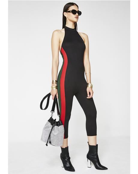 Raining Money Halter Catsuit