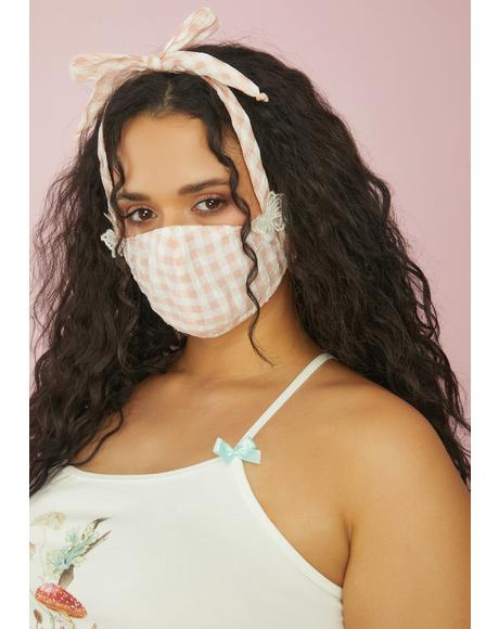 Slice Of Heaven Gingham Face Mask