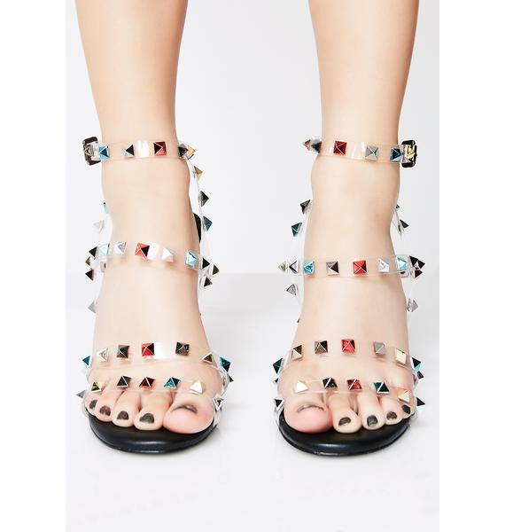 Get The Point Studded Heels