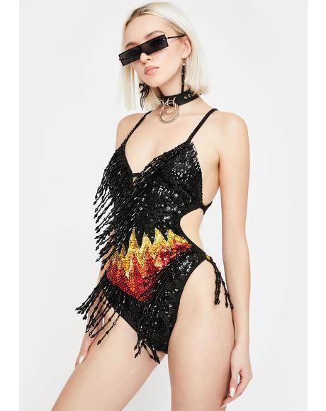 Firestarter Sequin Bodysuit