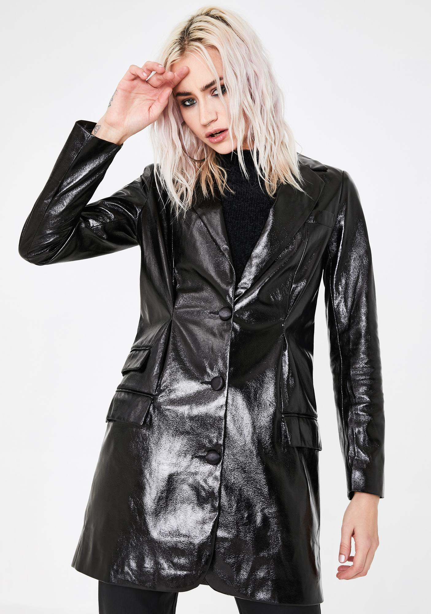 Lioness All Night Long Faux Leather Blazer