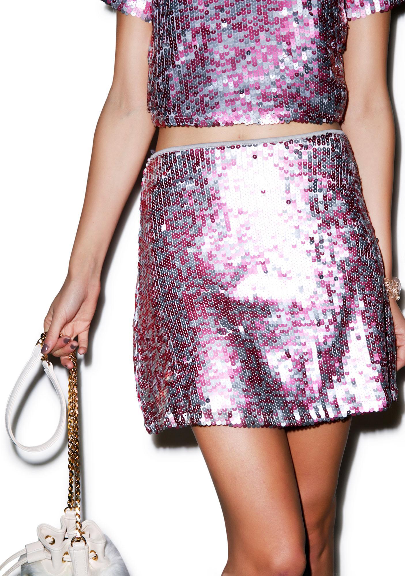 Motel Weaver Sequin Rows Skirt