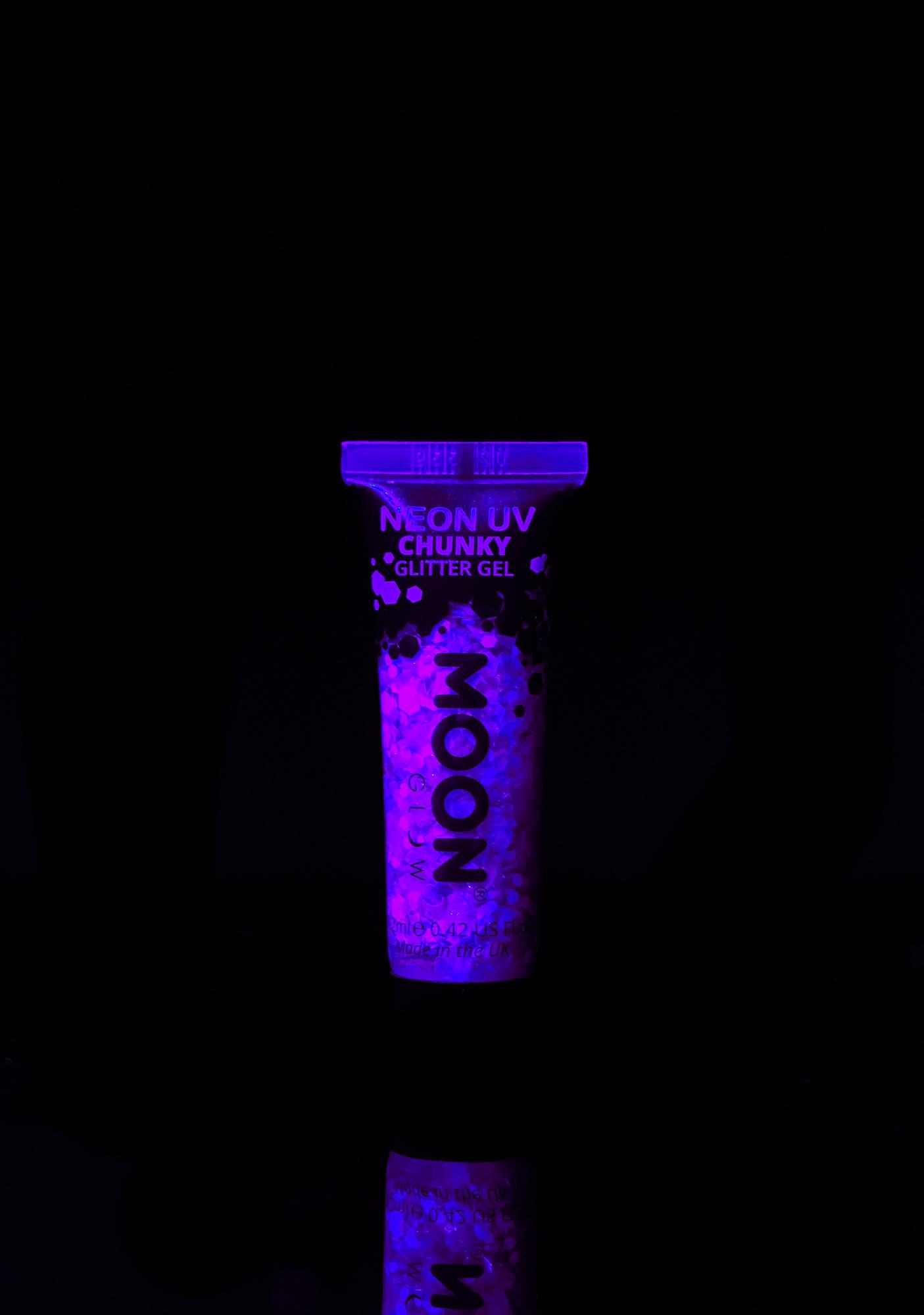 Moon Creations Purple UV Chunky Glitter Gel