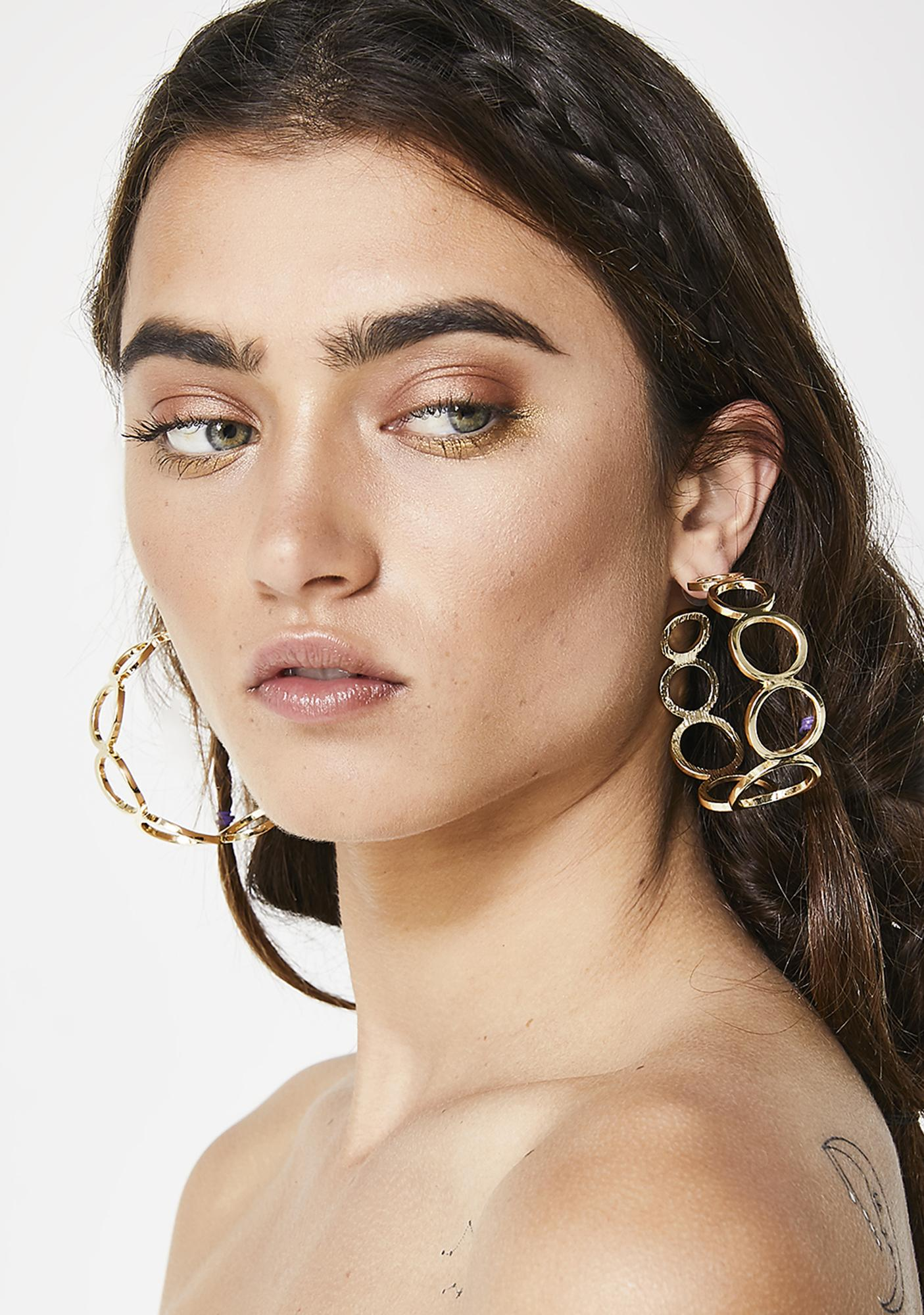Looped In Hoop Earrings