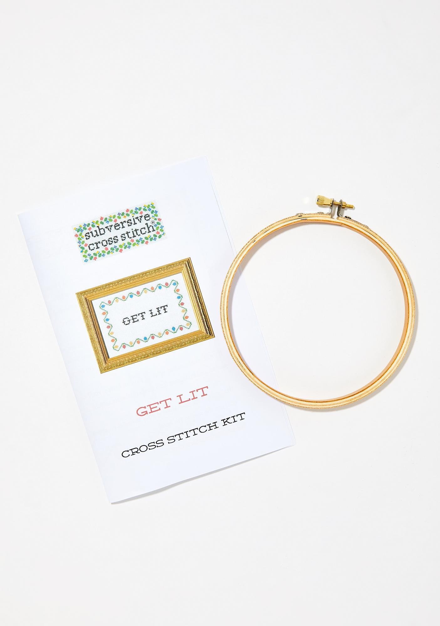 Subversive Cross Stitch Get Lit Stitching Kit