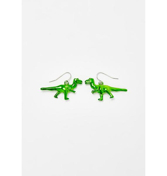 dELiA*s by Dolls Kill Park Savage T-Rex Earrings