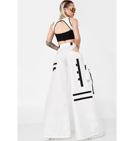 Namilia White Nylon Rave Panty Trousers