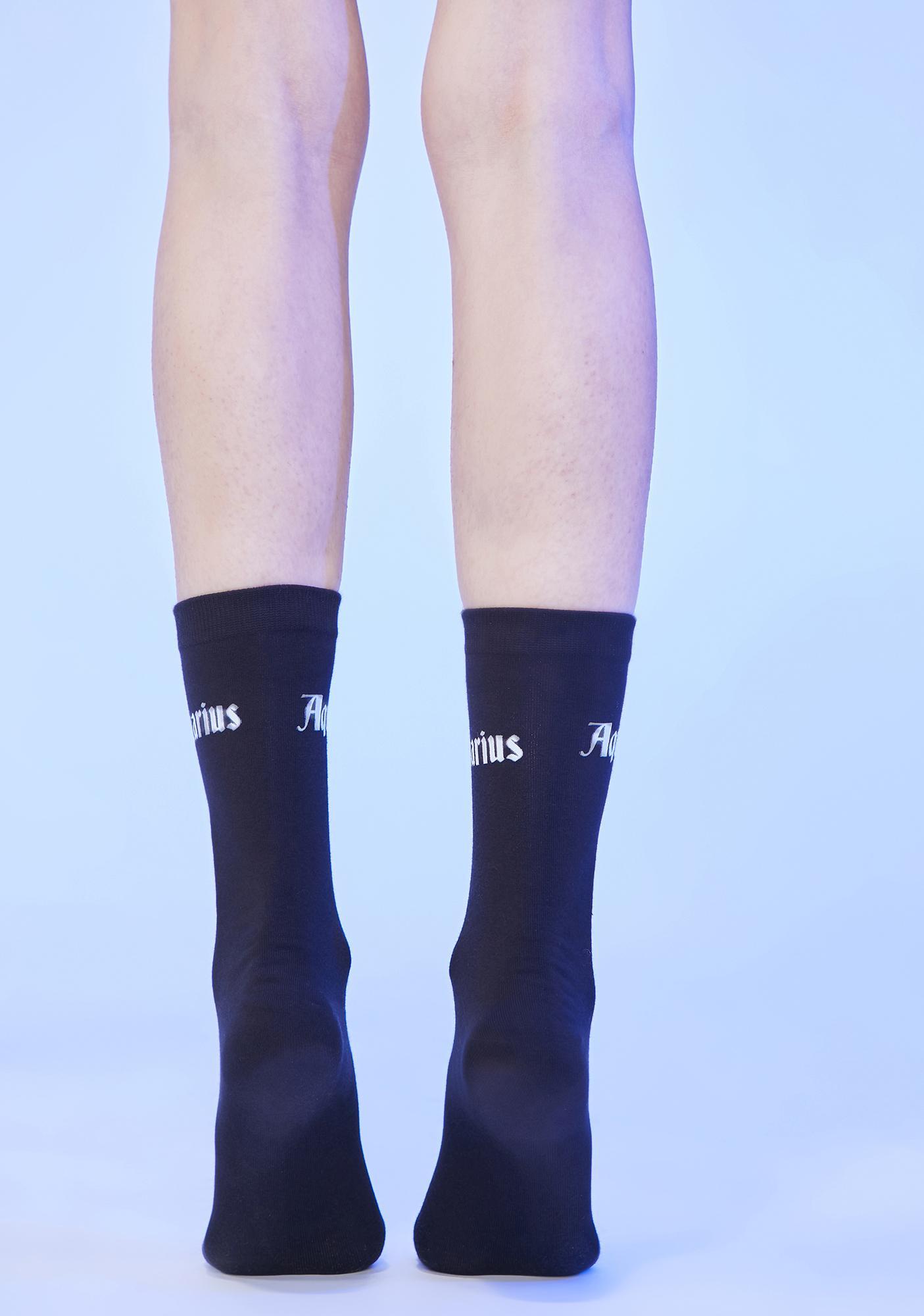 Social Sweetheart Aquarius Crew Socks
