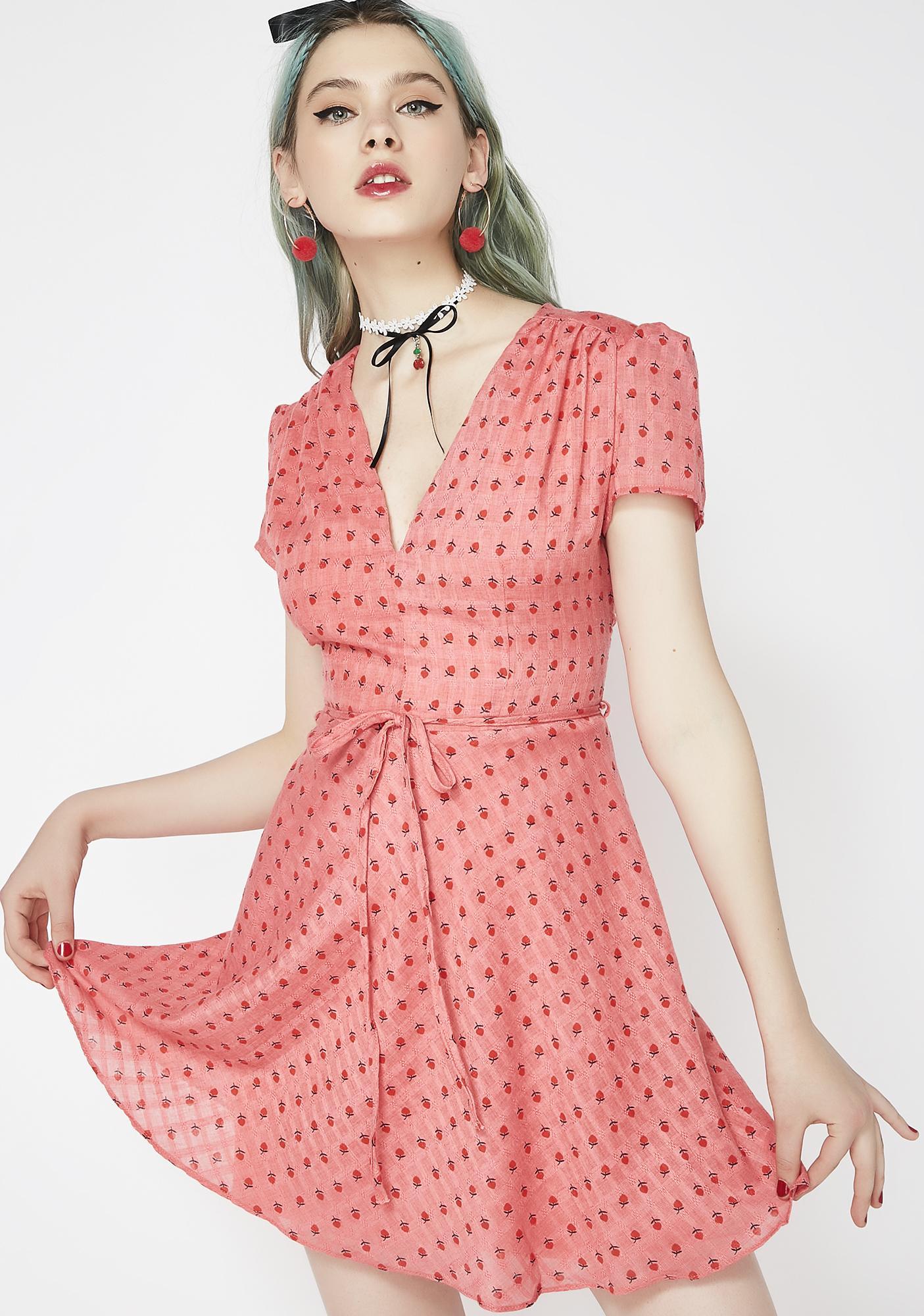 Glamorous Spillin' Tea Fit N' Flare Dress