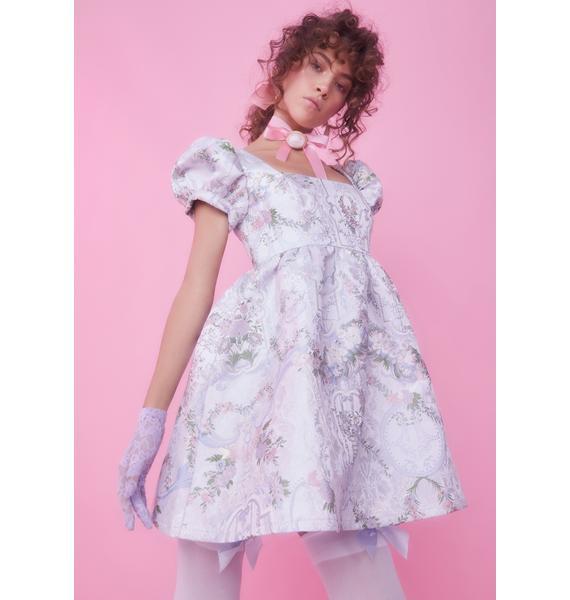 Sugar Thrillz If The Shoe Fits Brocade Dress
