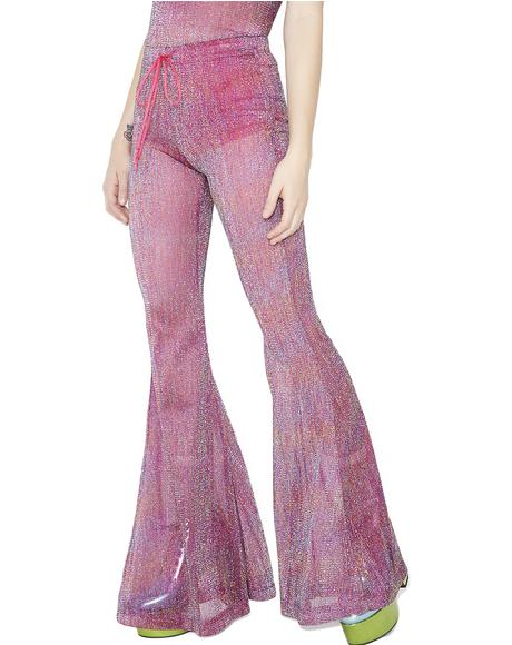 Teenage Rampage Glitter Bell Bottoms