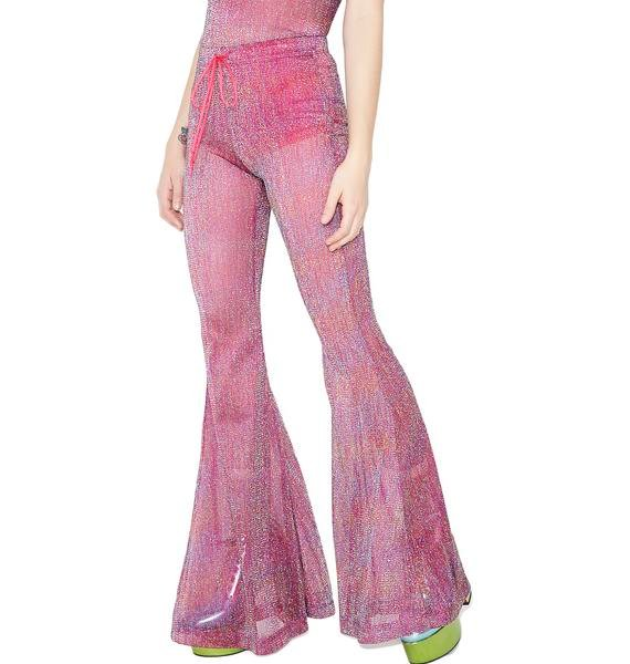 Sugar Thrillz Teenage Rampage Glitter Bell Bottoms