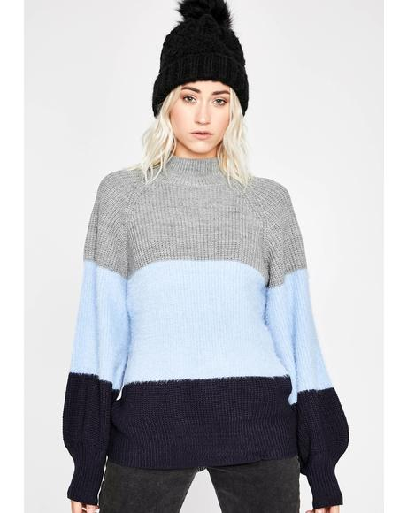 Chill Mood Levels Striped Sweater
