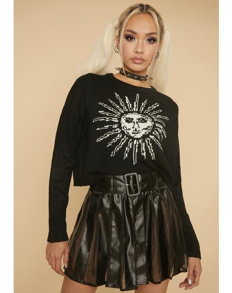 Idealistic Grunge Pleated Mini Skirt