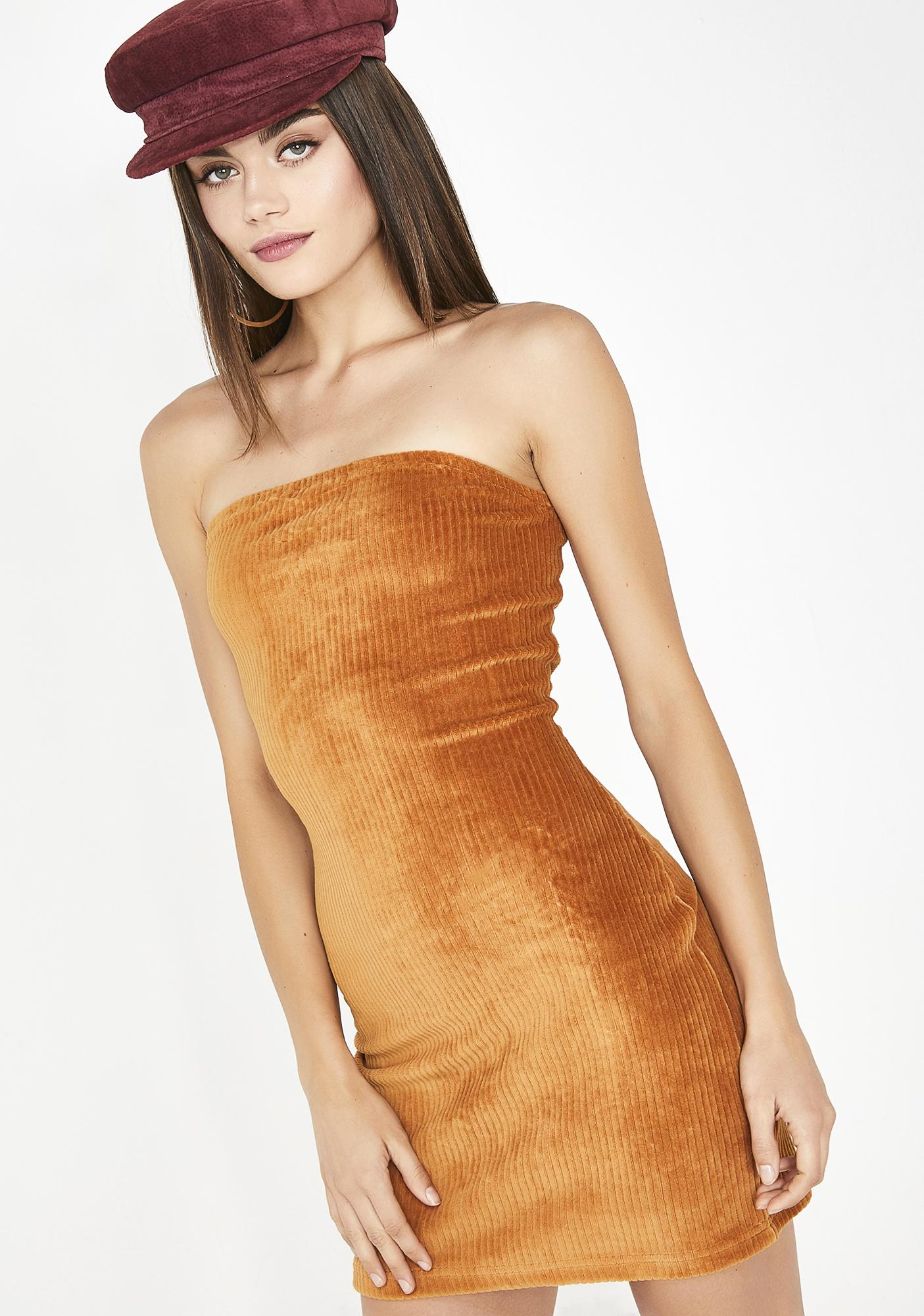 Amber No Time Wasted Corduroy Dress
