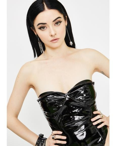 Unholy High Demands Vinyl Bodysuit