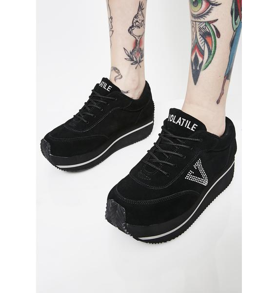 Volatile Shoes Midnight Expulsion Platform Sneakers