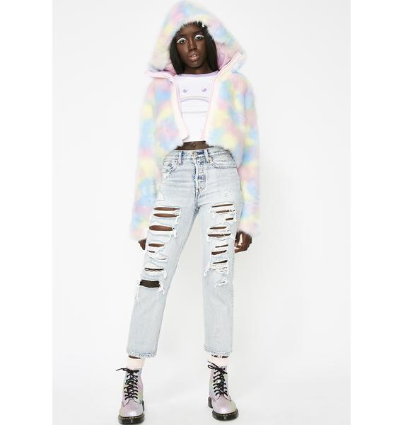 Sugar Thrillz Lick The Lollipop Faux Fur Jacket