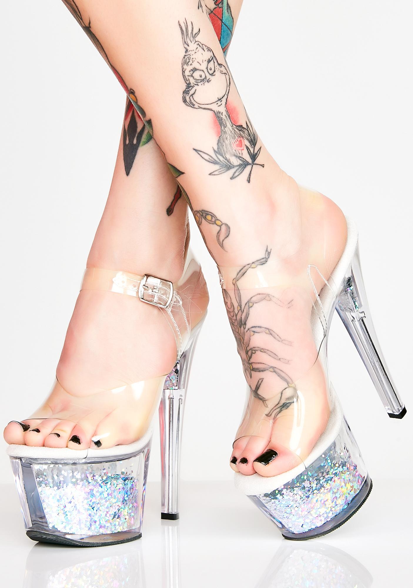Pleaser Call Me Crystal Adore Platform Heels