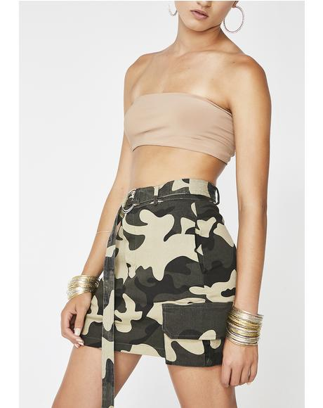 Baddie Intentions Camo Skirt