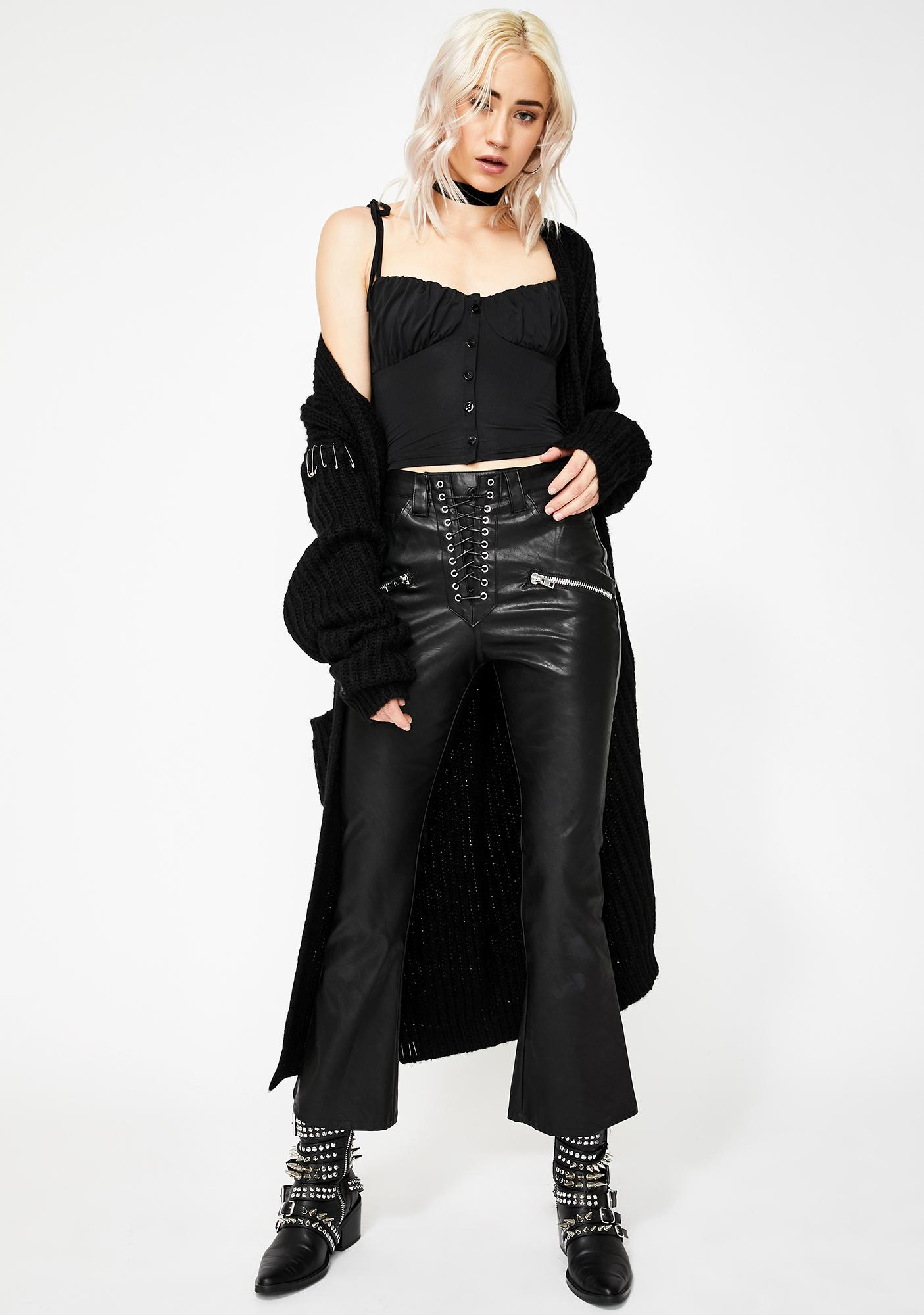 Kiki Riki Black Feelin' Femme Bustier Top