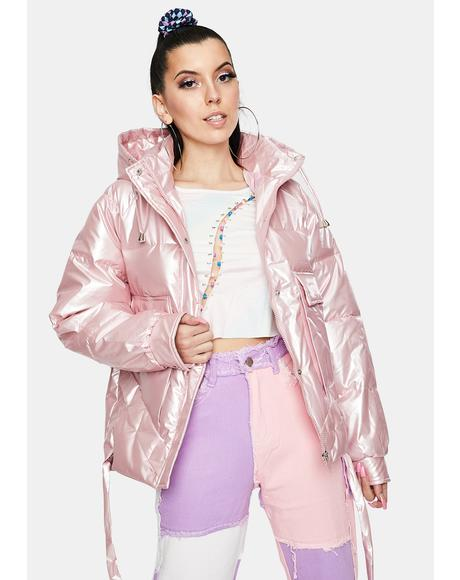 Bubble Pop Pink Puffer Jacket