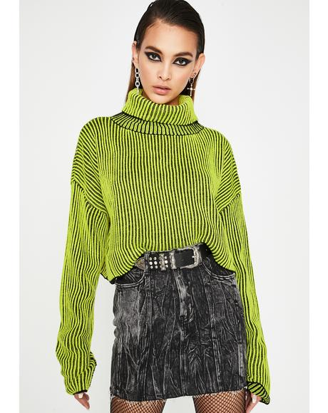 Kush Between The Lines Turtleneck Sweater