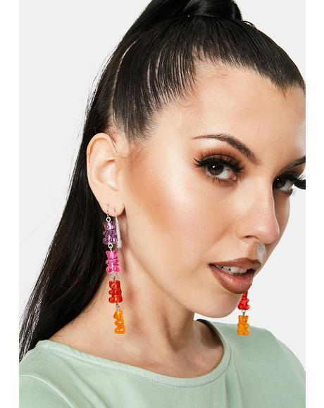 More Sugar Gummy Bear Drop Earrings