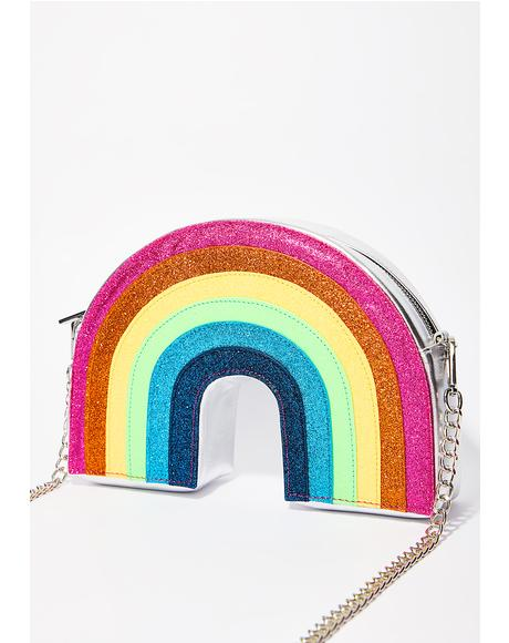 Glitter Rainbow Crossbody Bag