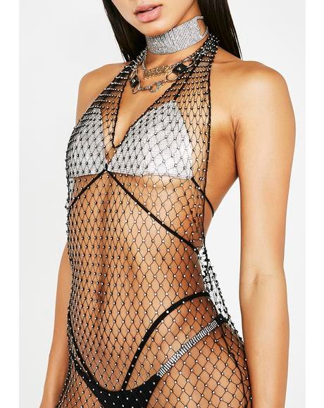 Born To Flex Rhinestone Dress