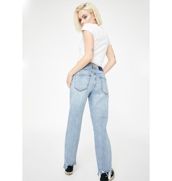 Daze Straight Up Distressed Denim Jeans