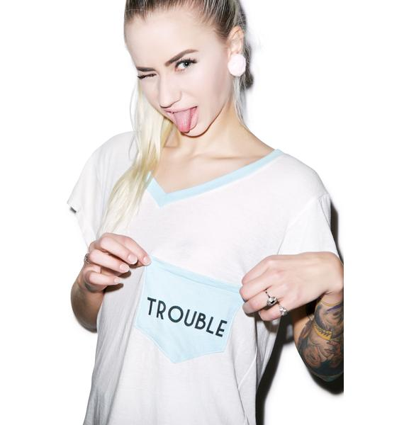 Wildfox Couture Trouble Romeo Pocket V-Neck Tee