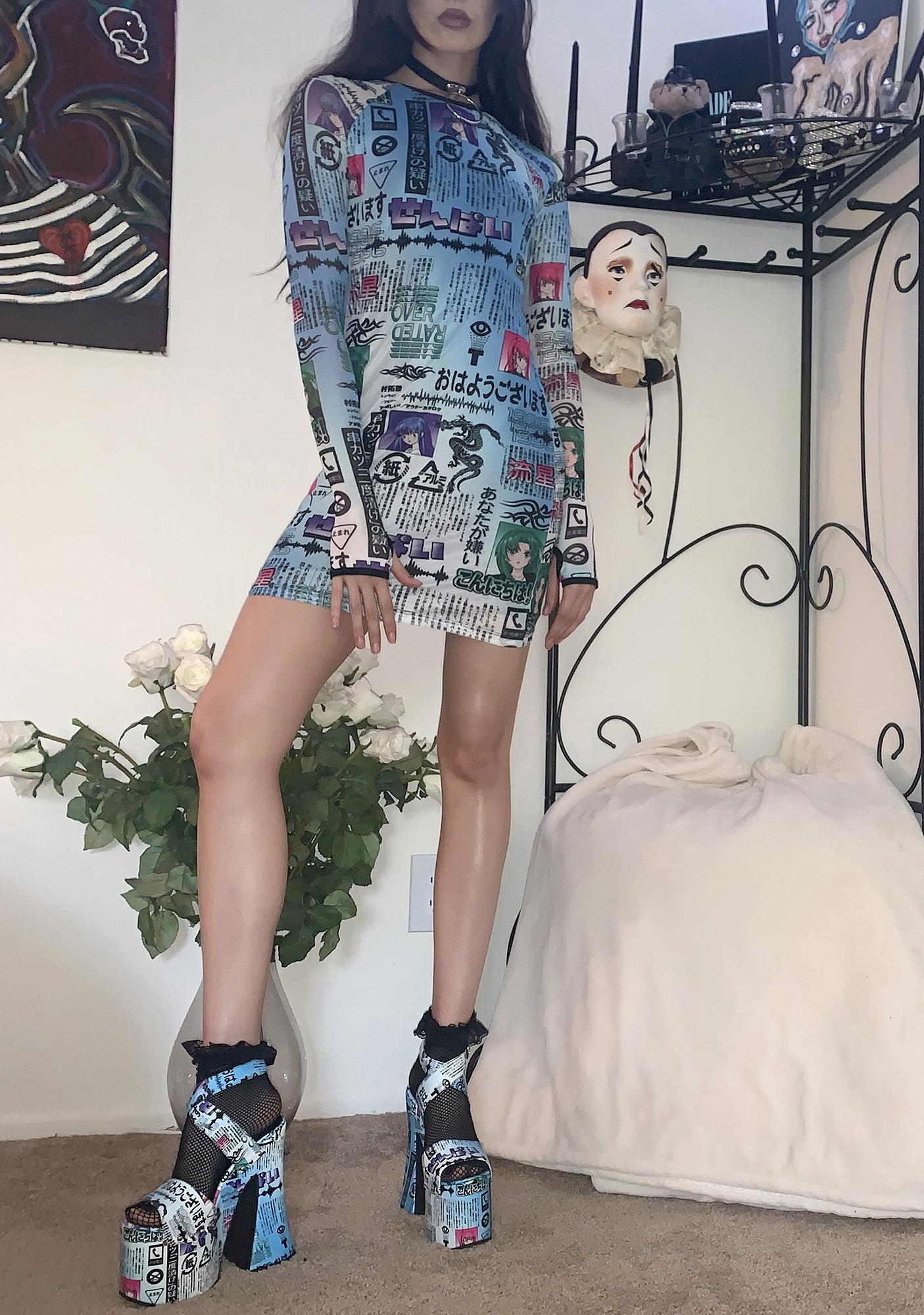 Current Mood To Be Continued Mesh Dress