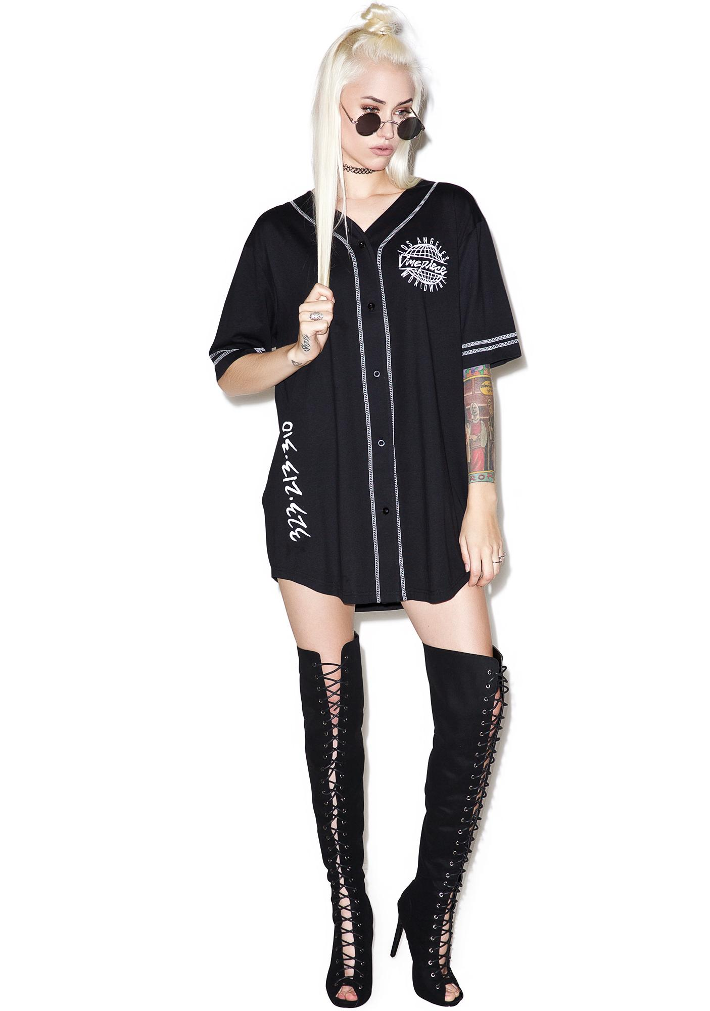 Dimepiece Worldwide Button Up Baseball Jersey