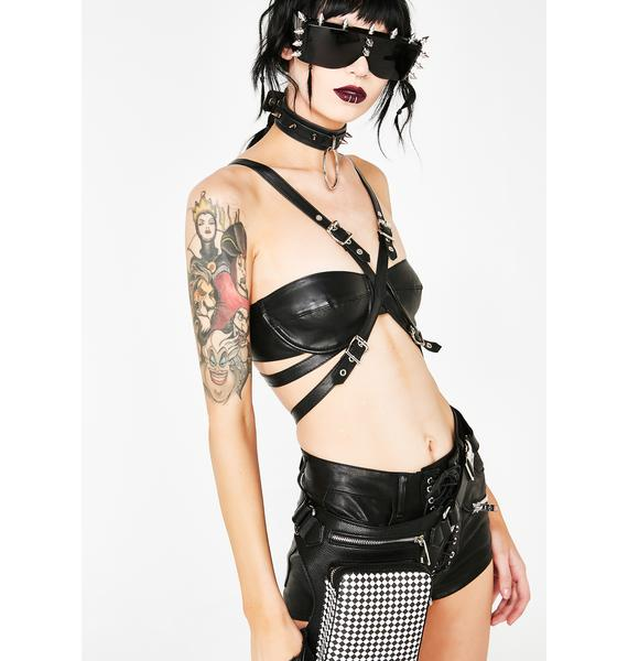 Cruel Ambition Vegan Leather Bra