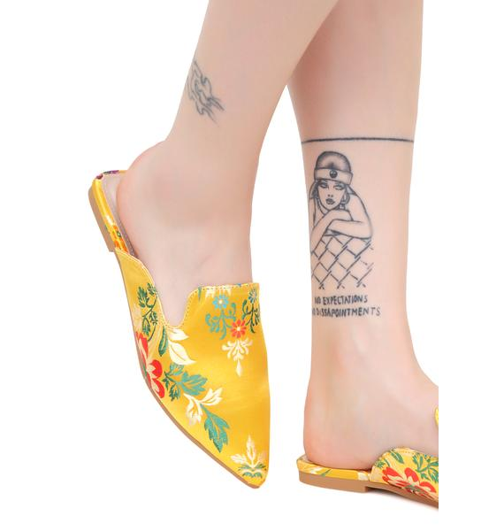 Libertine Brocade Slides