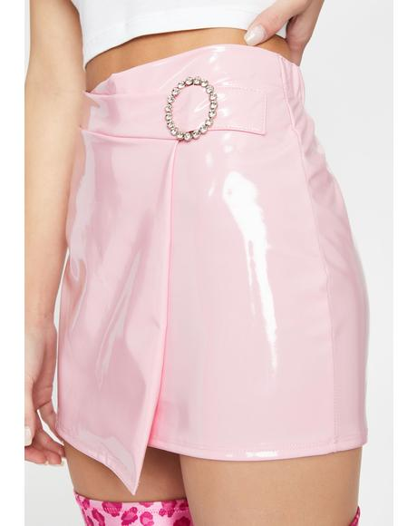 Bratty Bae Vinyl Skirt