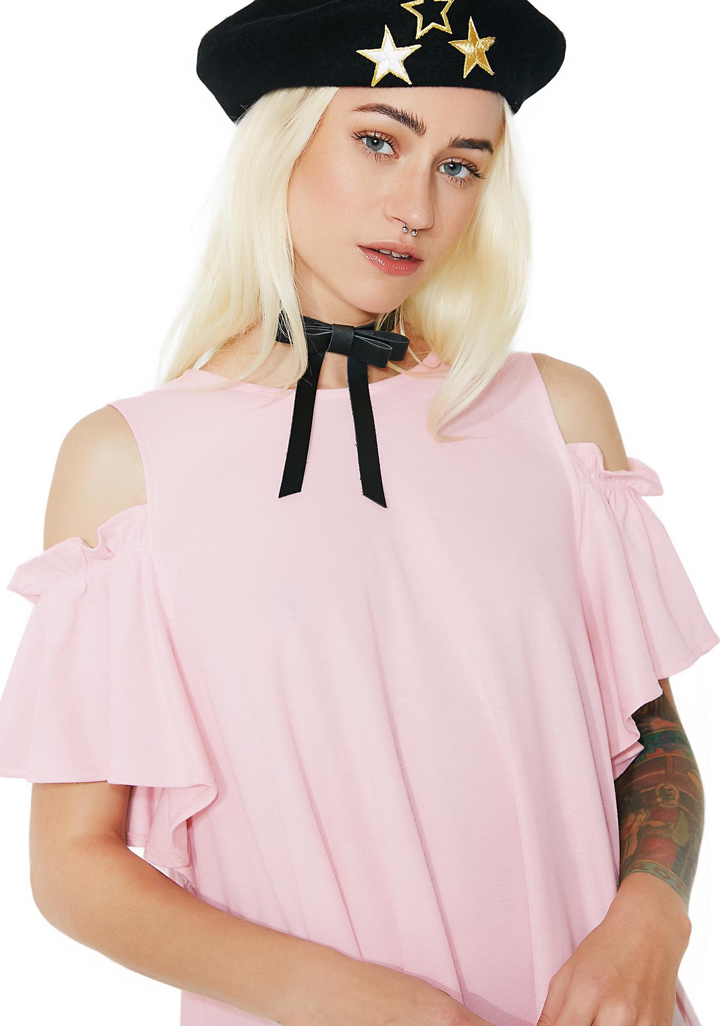 one spo Back Slash Bow Dress