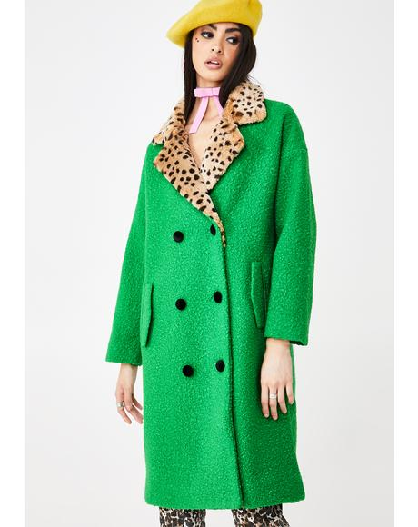 Green Dreams Teddy Coat