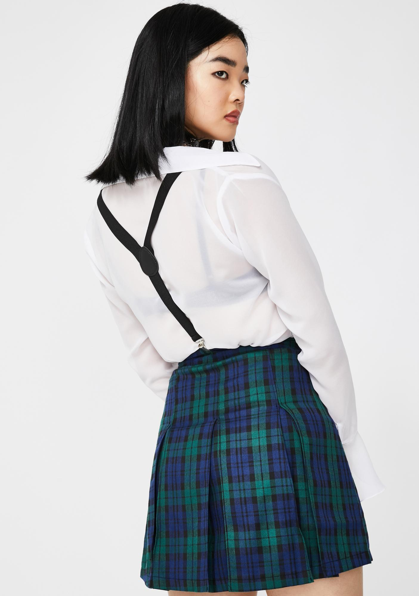 Dolls Kill x The Craft You Don't Exist Suspender Skirt