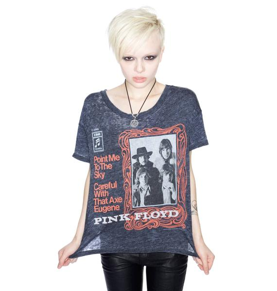 Chaser Pink Floyd Point Me To The Sky Boxy Tee