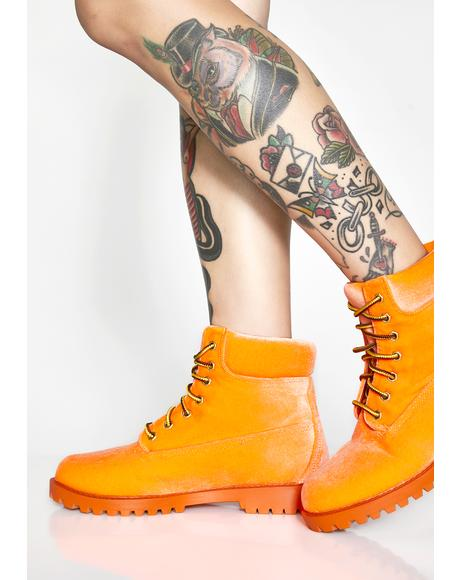Juiced Boss Baddie Combat Boots