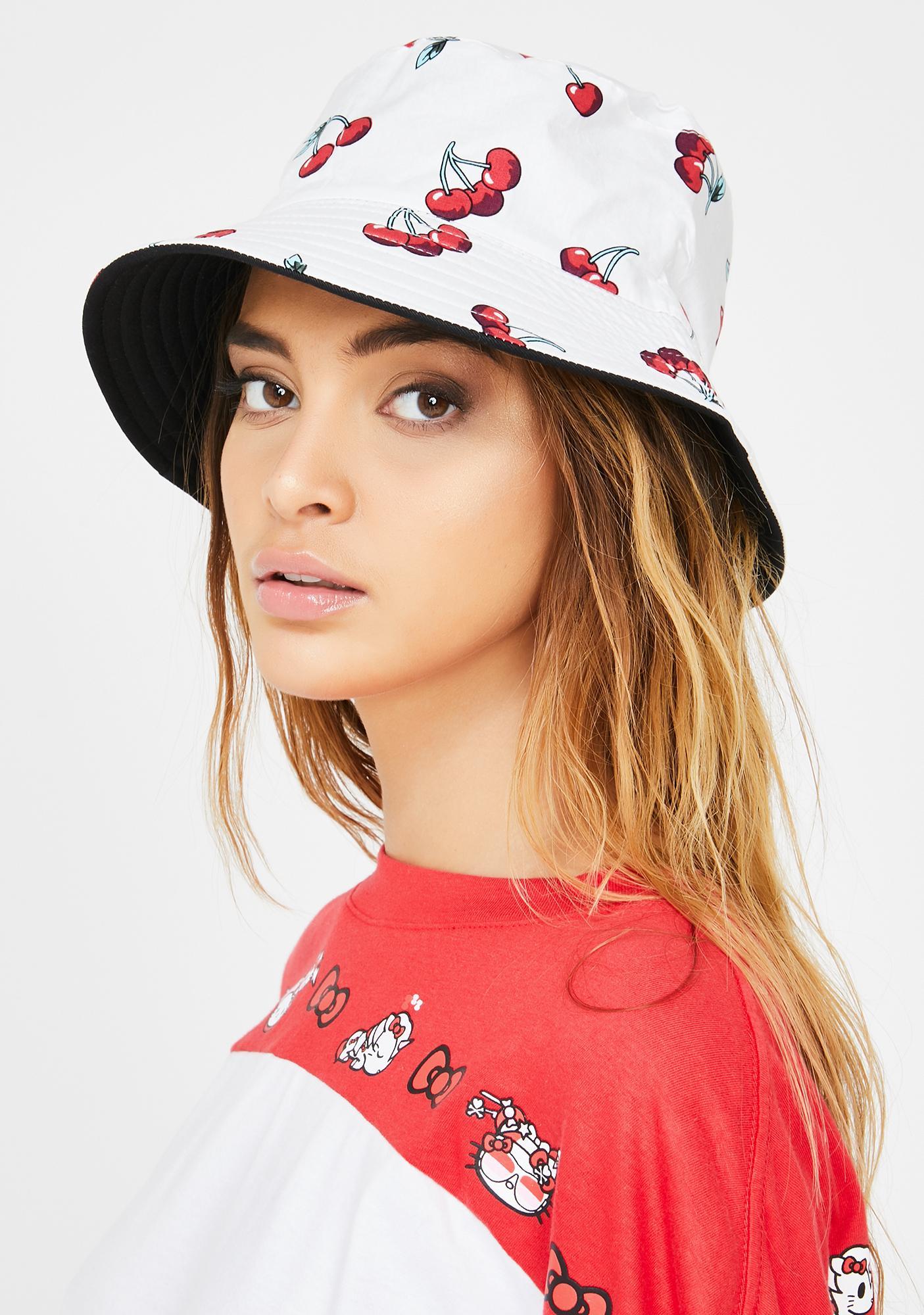Pure Cherry Bomb Reversible Bucket Hat