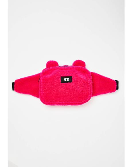 Pink Bear Bum Bag