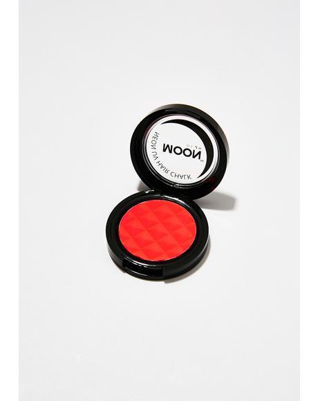 Neon Intense Red UV Hair Chalk